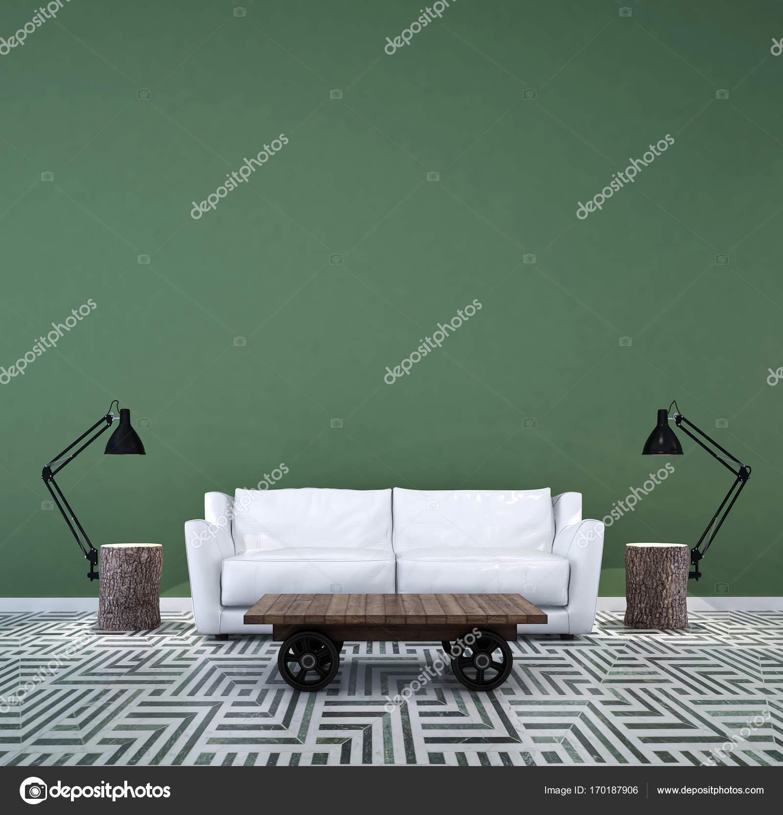 Das Interior Design Der Lounge Und Wohnzimmer Und Sofa Set Und Grune