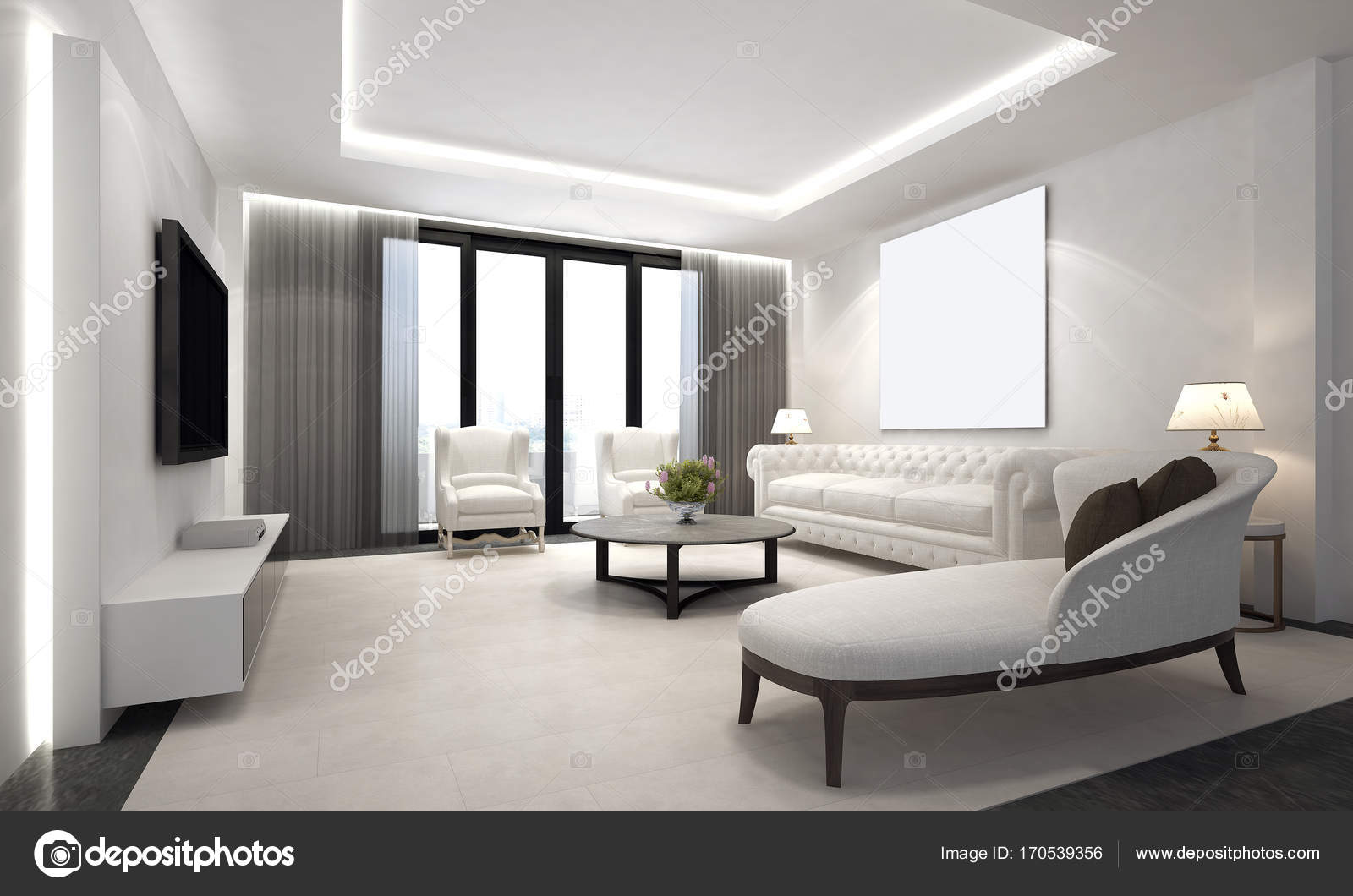 Das Luxus-Lounge und Wohnzimmer Interior design — Stockfoto ...
