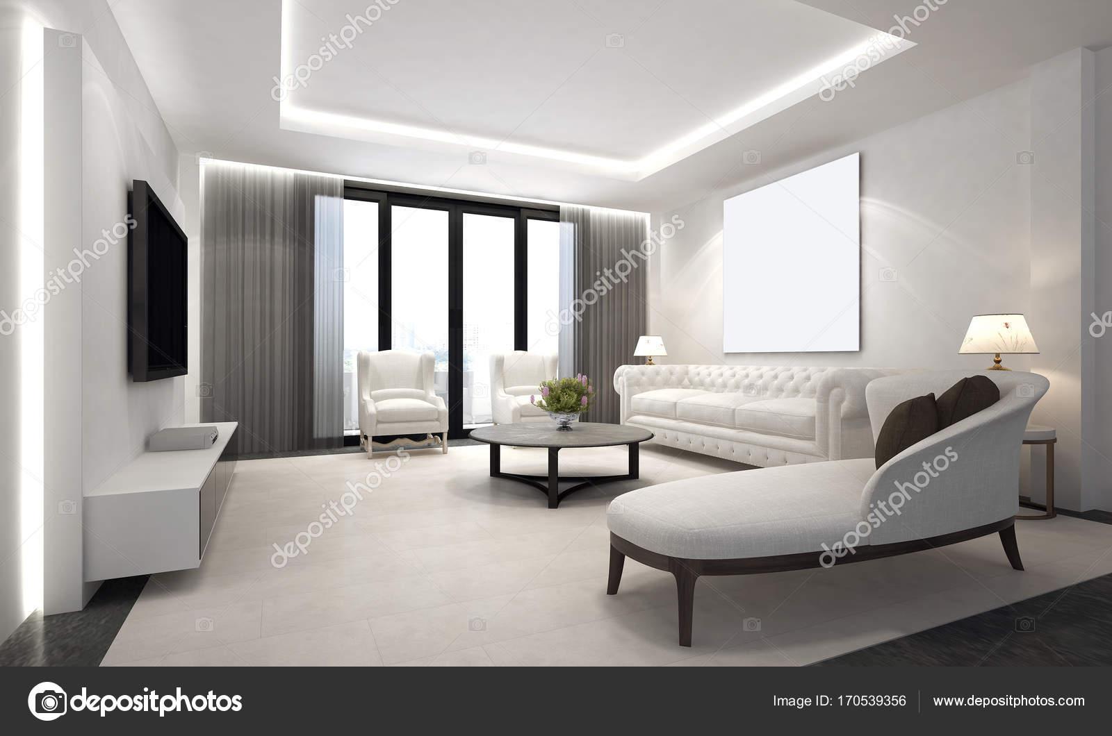 De luxe lounge en woonkamer interieur — Stockfoto © Teeraphan #170539356