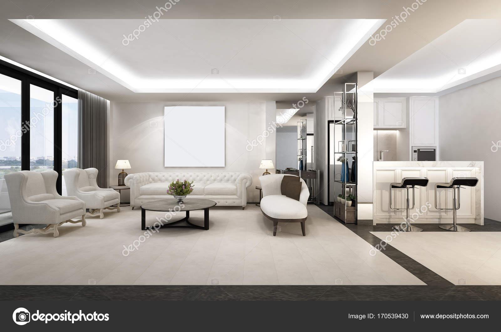 Die Luxus-Lounge und Wohnzimmer Interior Design und Pantry-Bereich ...