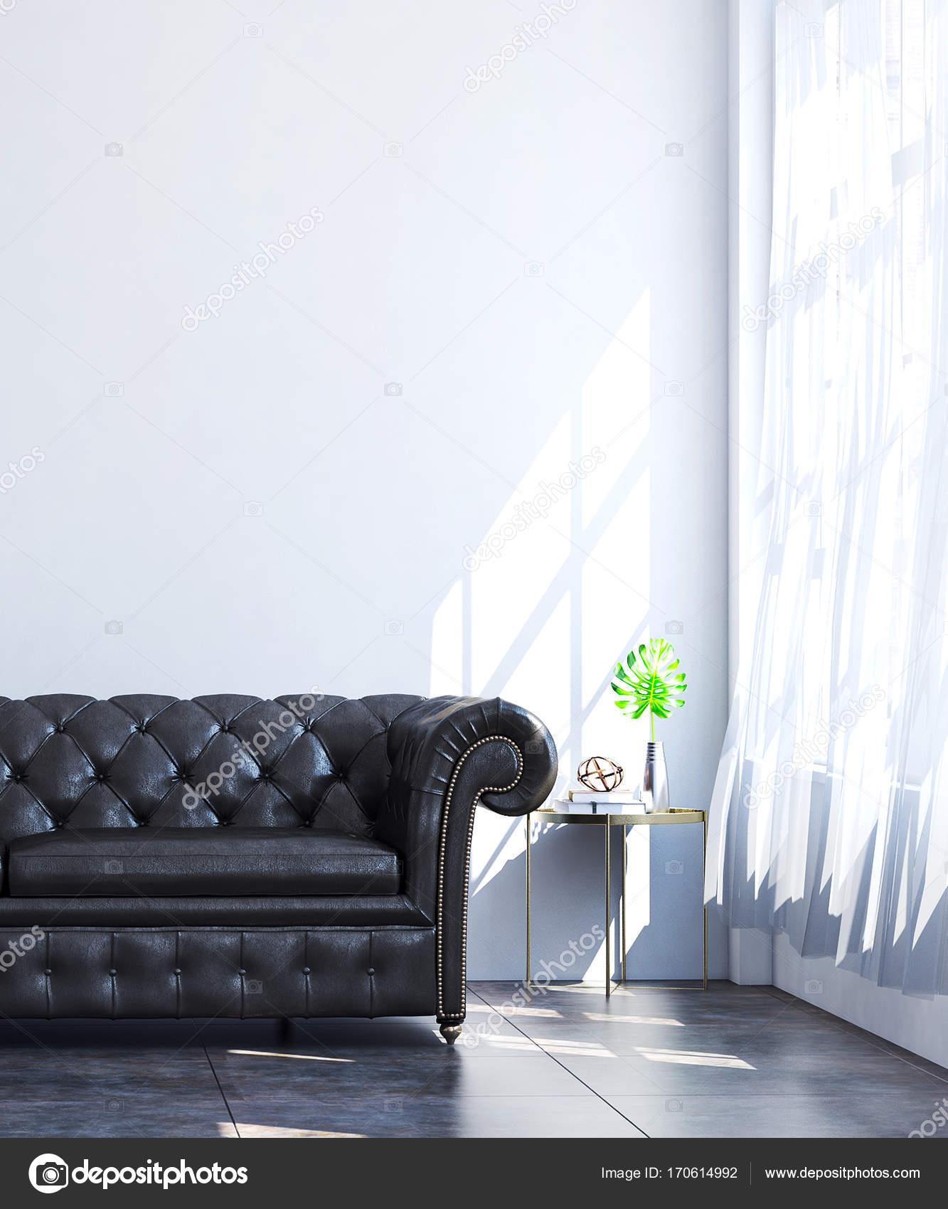 3D Rendering Innenarchitektur Luxus Minimal Wohnzimmer Idee U2014 Foto Von  Teeraphan