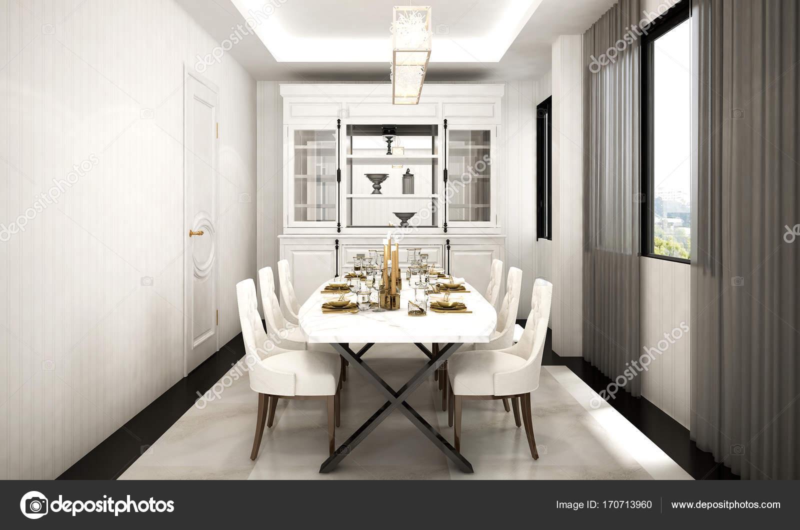 La sala da pranzo di lusso e interior design di parete modello ...