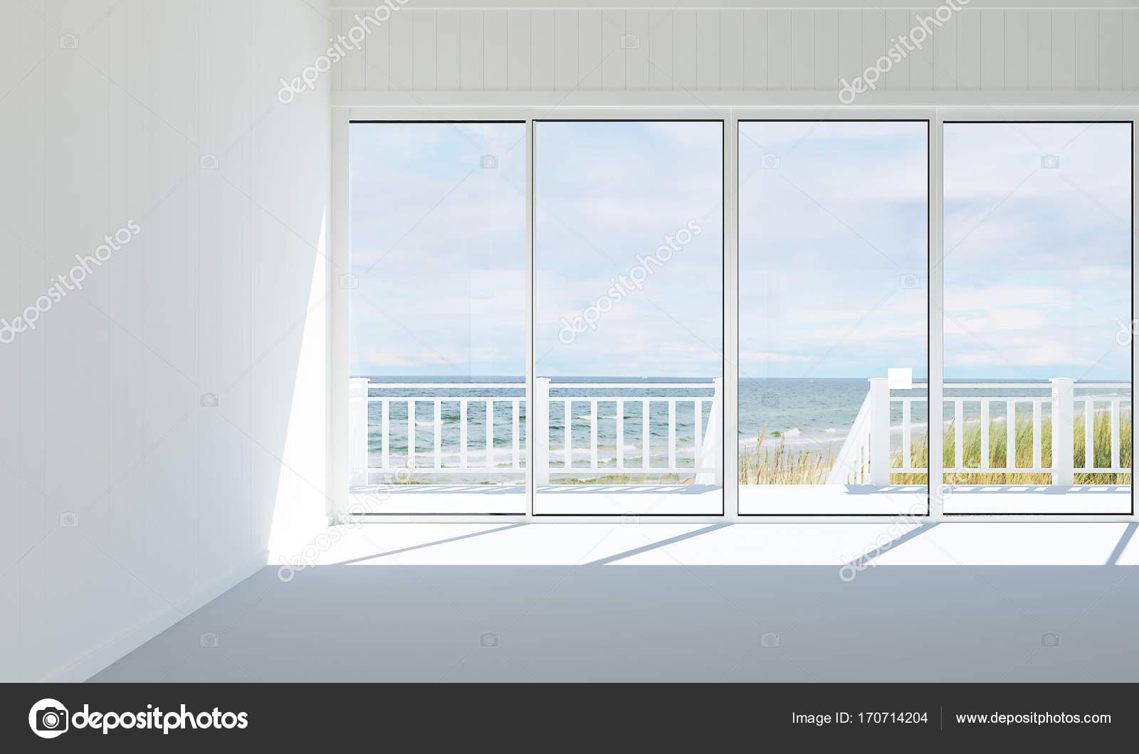 De moderne lege woonkamer en witte muur patroon design interieur en ...