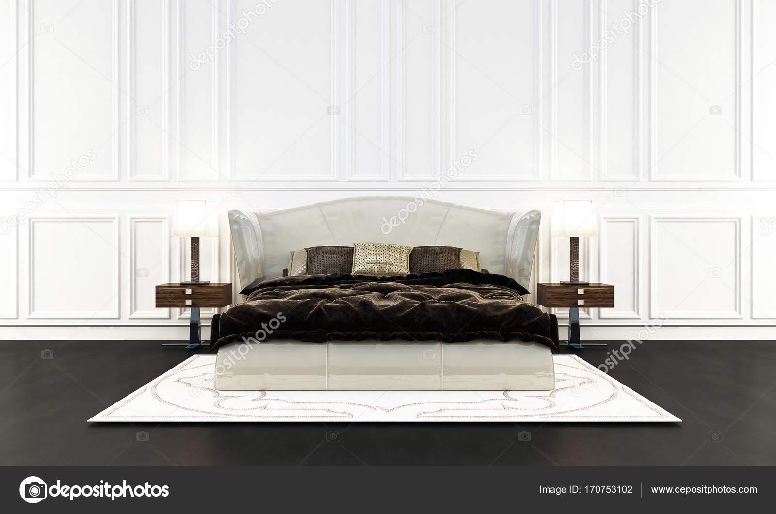 Die moderne Luxus Schlafzimmer Innenarchitektur und weißen Wand ...