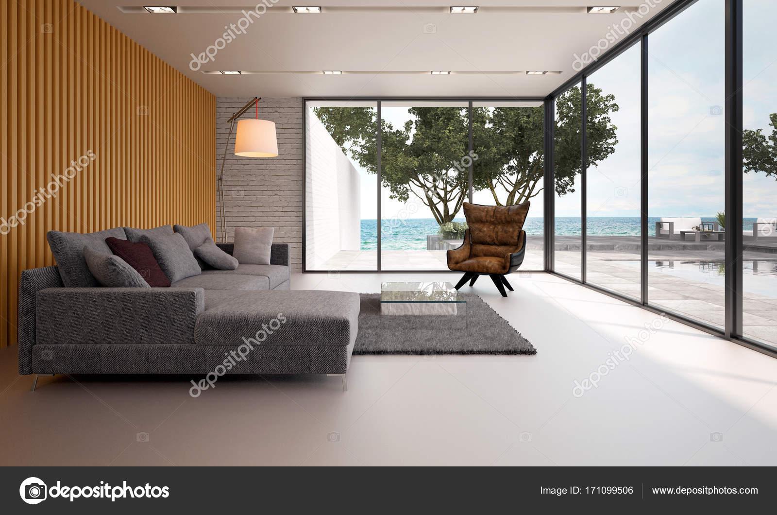 Het interieur design concept idee van moderne woonkamer en