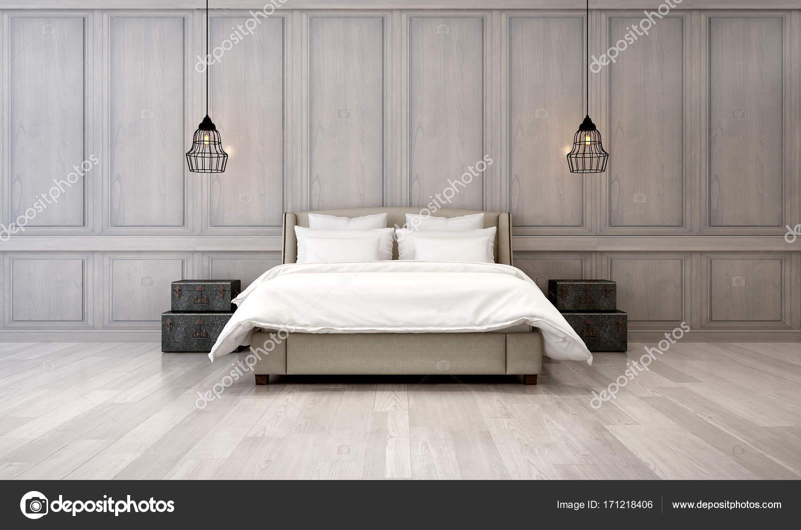 La Décoration Des Chambres De Luxe Et De Fond Mur Bois