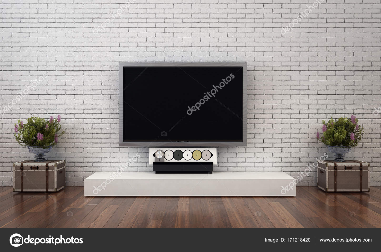3d rendering interior design of living room concept idea photo by