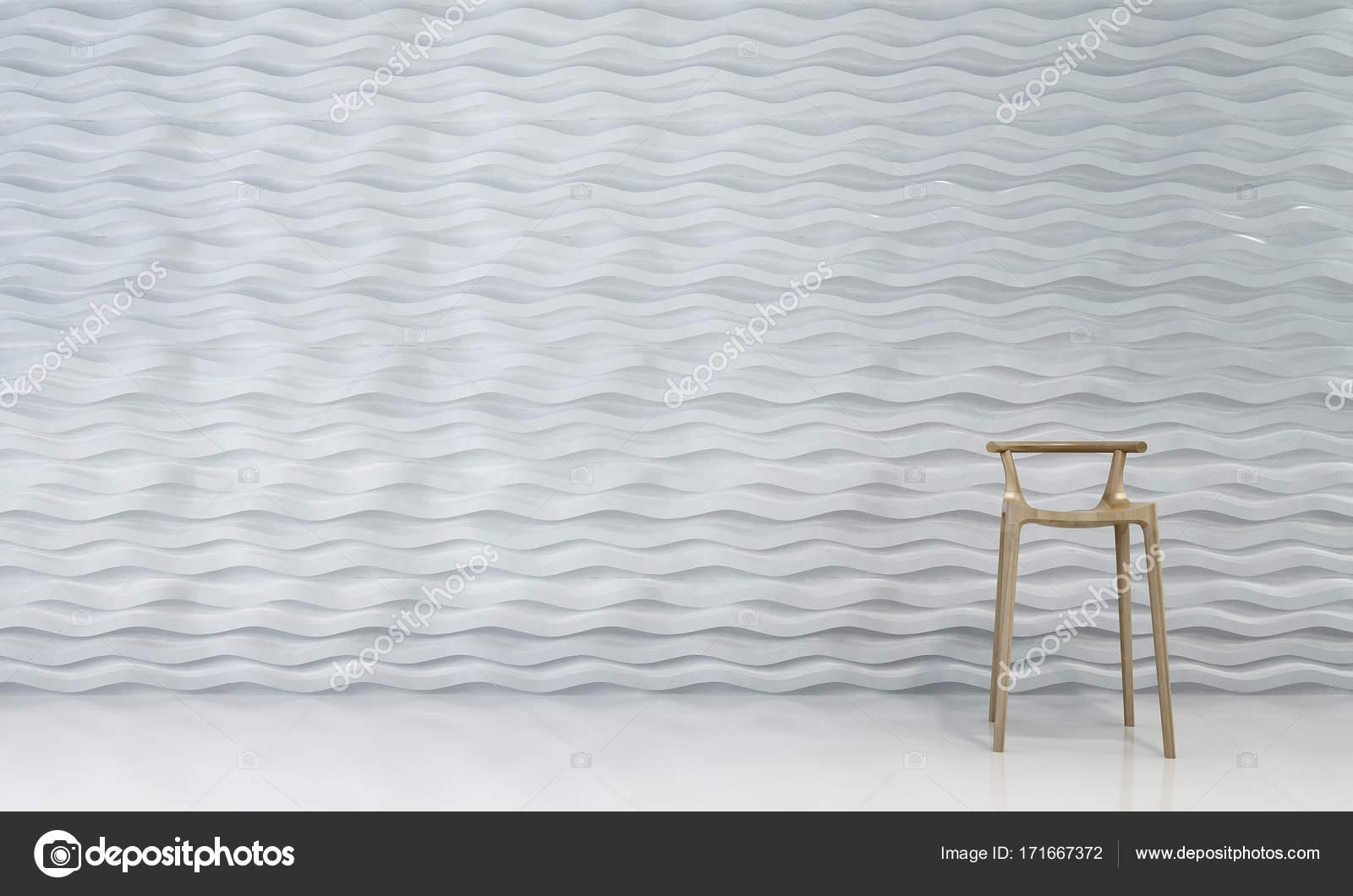 L interior design del salotto sgabello sedia soggiorno e bianco