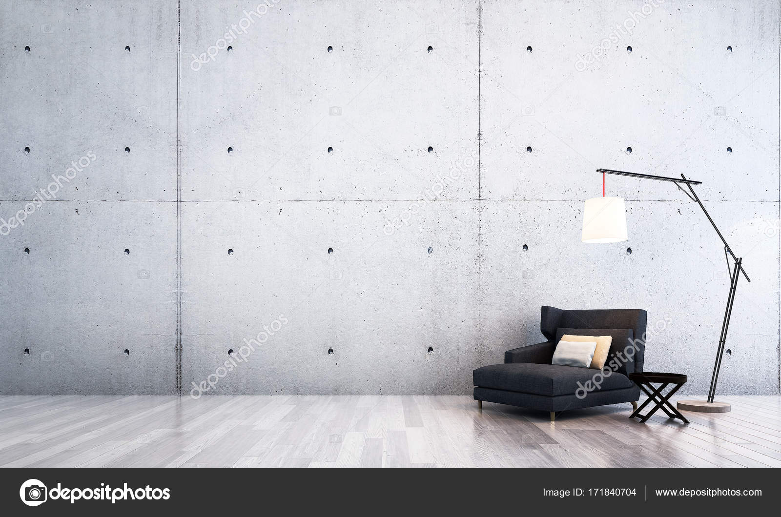 Das Interieur-Design des Luxus-Lounge und Wohnzimmer und Beton-Wand ...