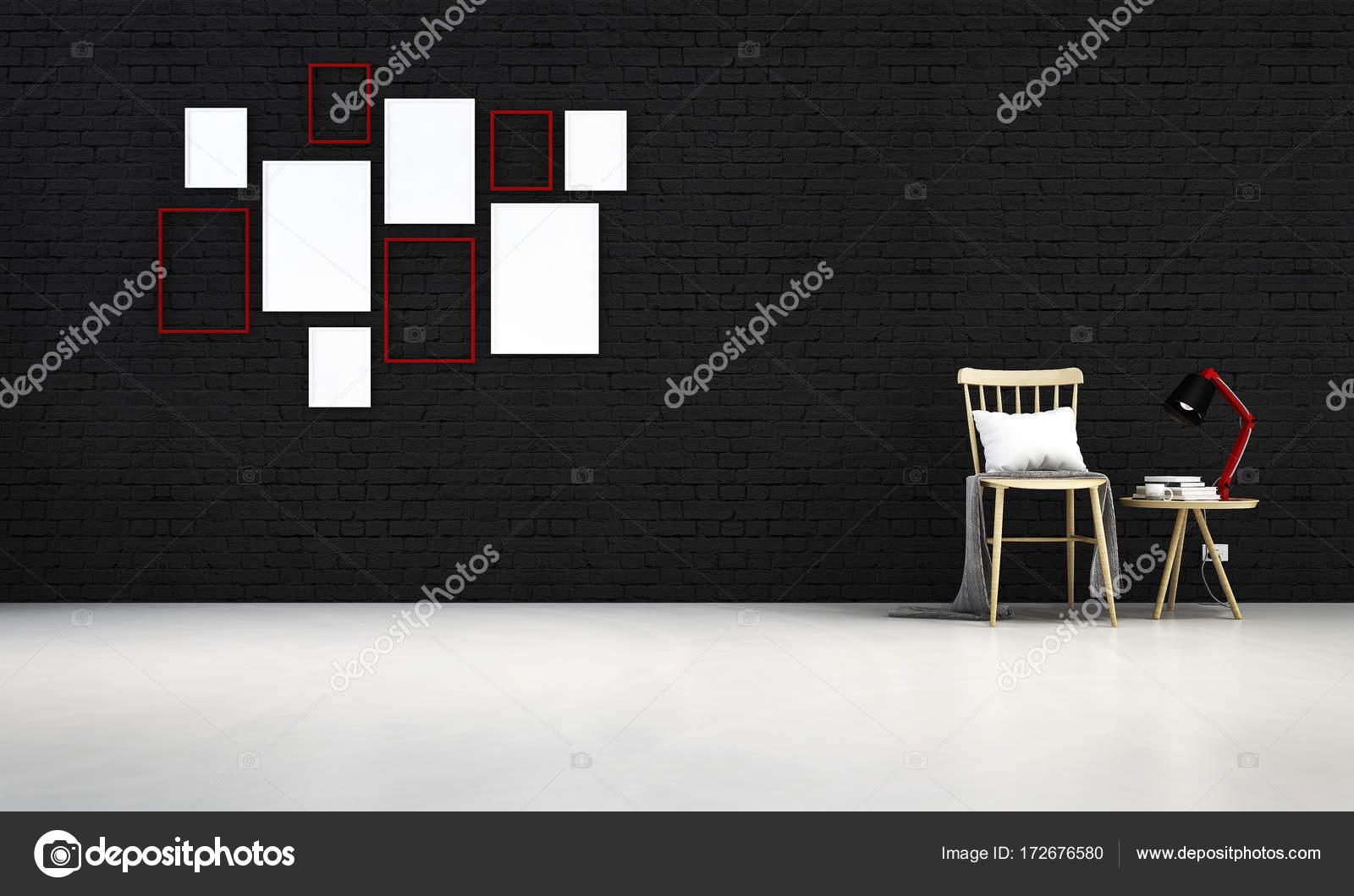 Die Lounge und Wohnzimmer Stühle und Beton Wand Hintergrund Interior ...