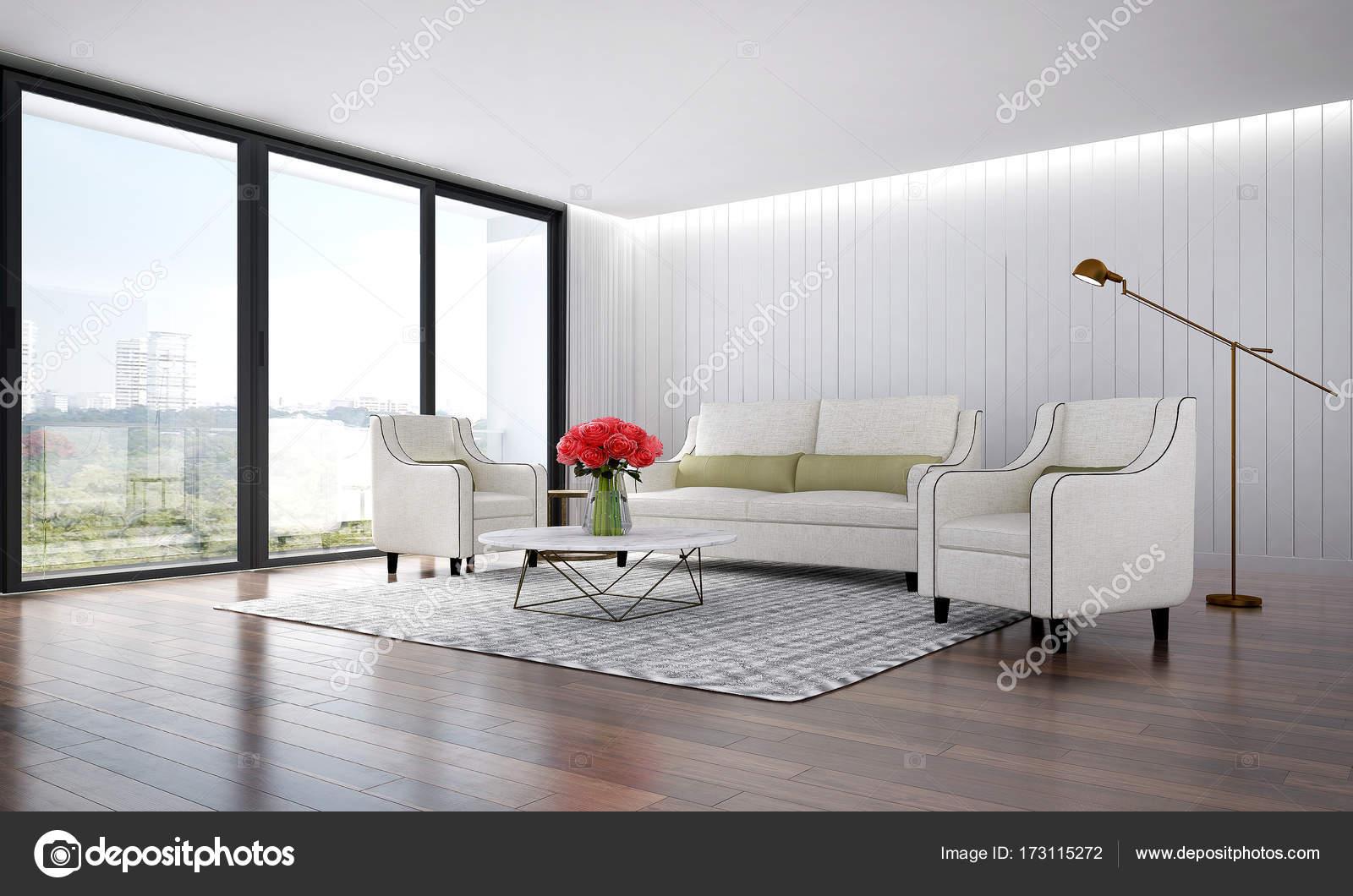 De moderne lounge en woonkamer interieur — Stockfoto © Teeraphan ...