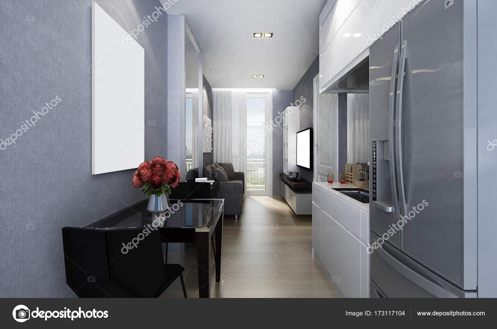 Diseños Sala Comedor Pequeños : El diseño interior de sala comedor pequeñas u foto de stock