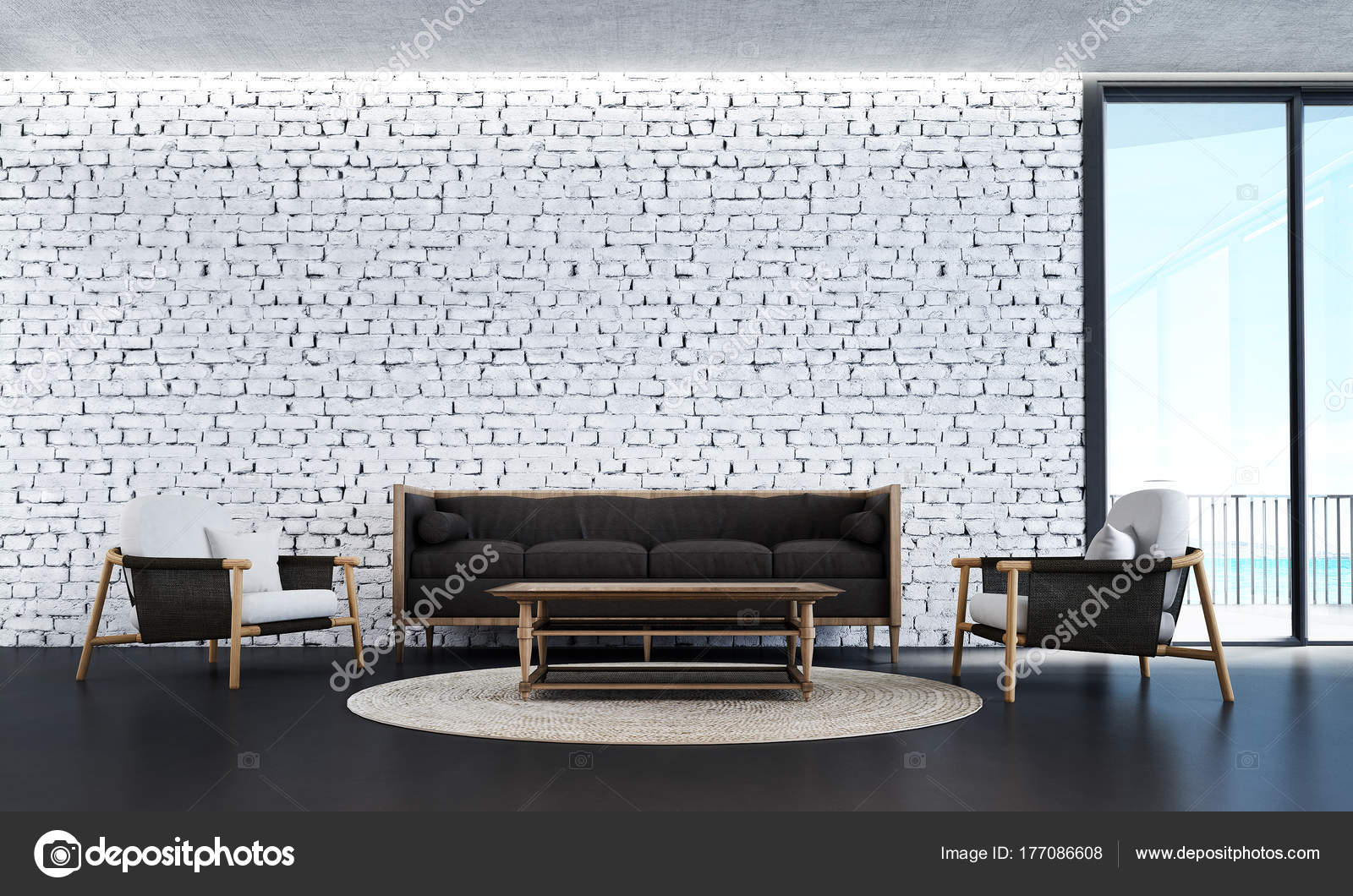 décoration intérieure salon moderne salle séjour blanc fond texture
