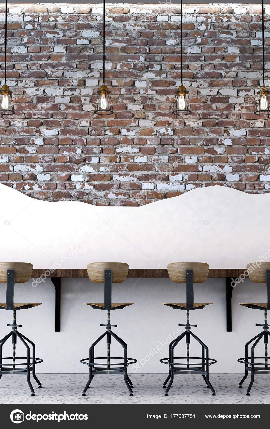 Conception Inteior Salle Manger Loft Table Manger Rouge Blanc ...