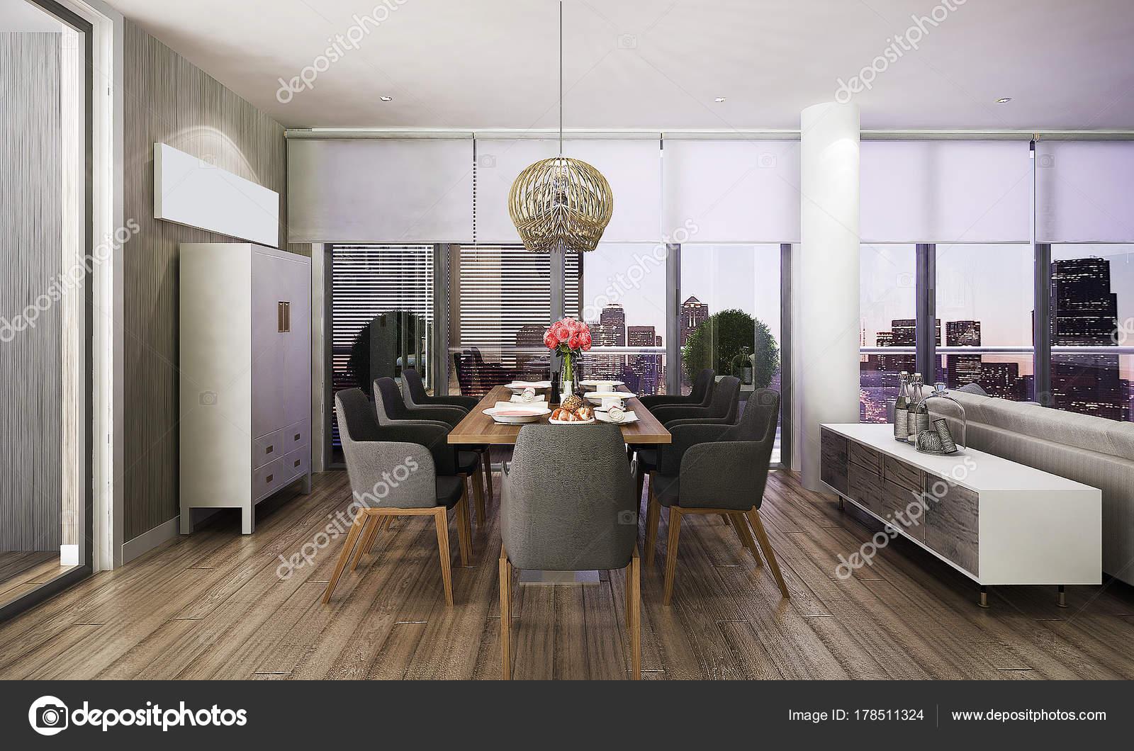Intérieur Rendu Design Idée Concept Salle Manger Table ...