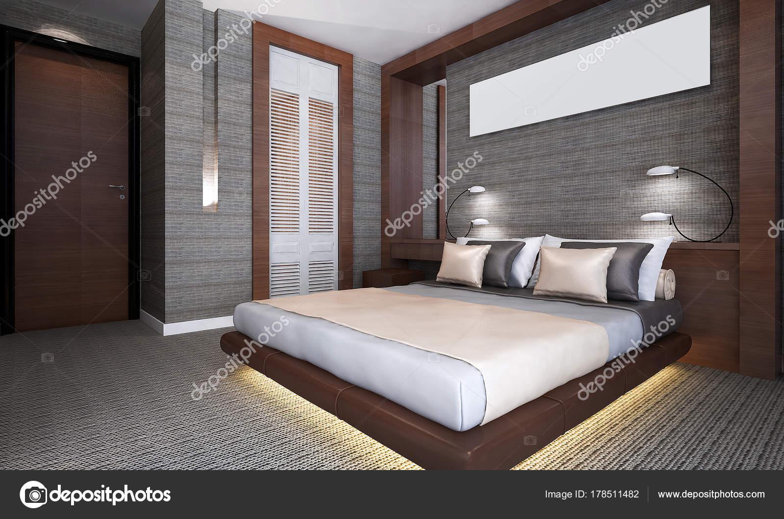 Rendering interieur design concept idee van moderne beroom kamer