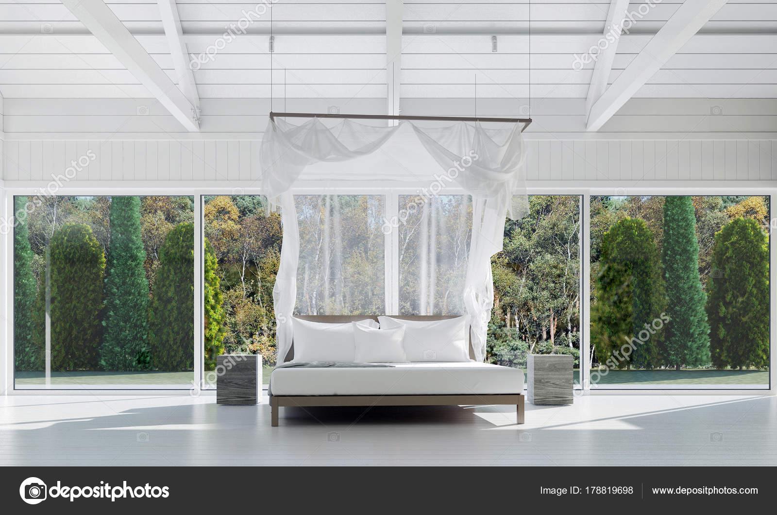 Baum Und Garten die innenausstattung des minimalen schlafzimmer und hintergrund baum