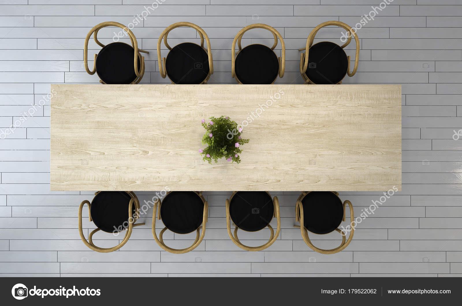 Les Idées Concept Décoration Salle Manger Moderne Brique Mur ...
