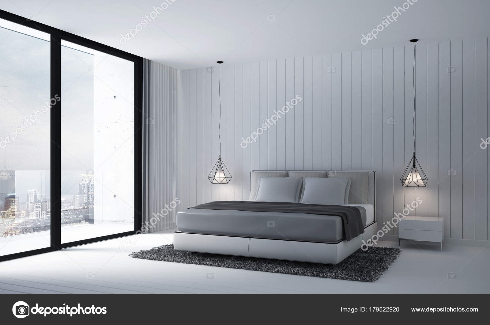 Rendu Décoration Fond Texture Moderne Chambre Coucher Mur ...