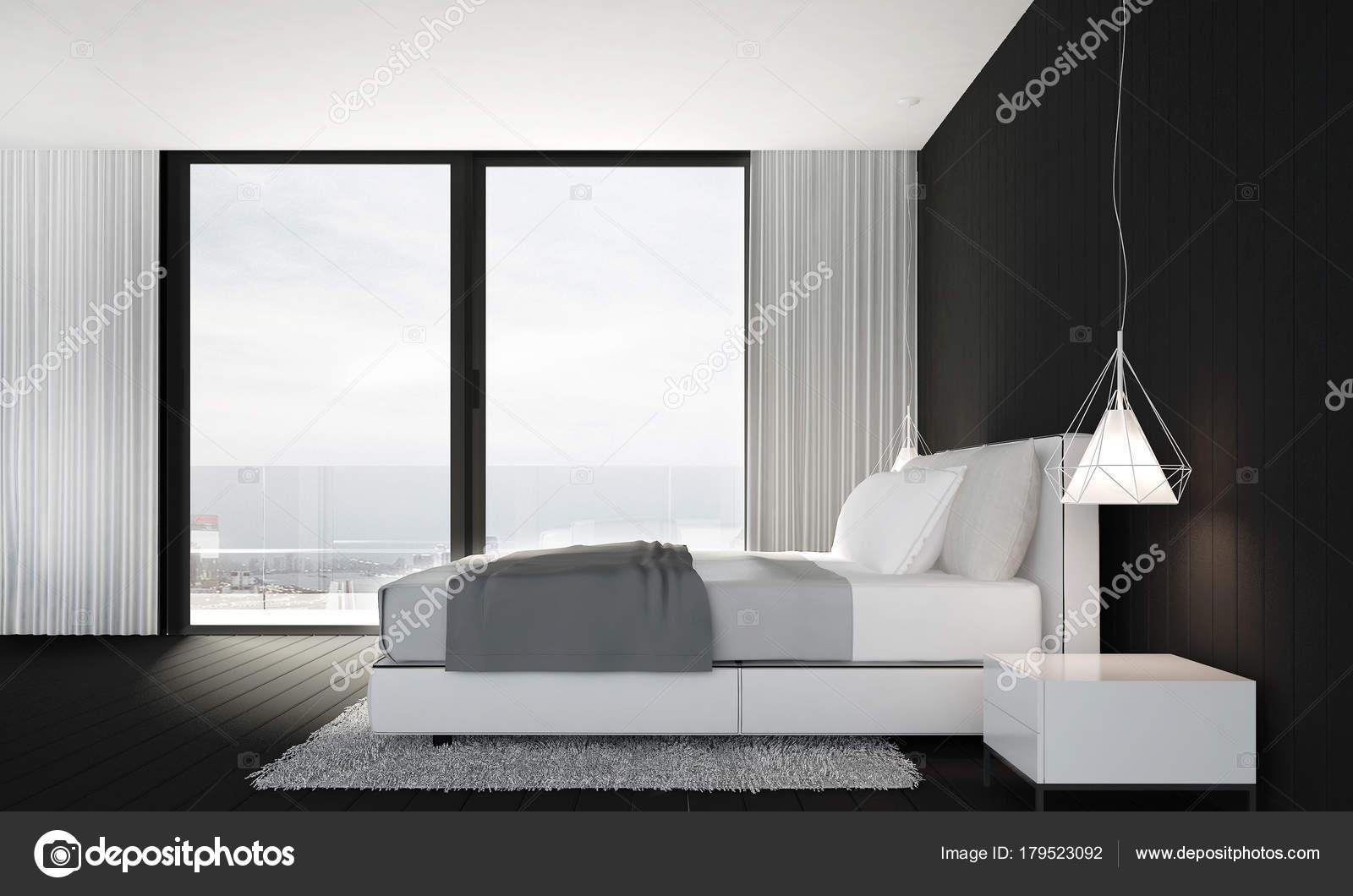 Zwarte Slaapkamer Muur : Minimalistische slaapkamer inloopkast combinatie homease