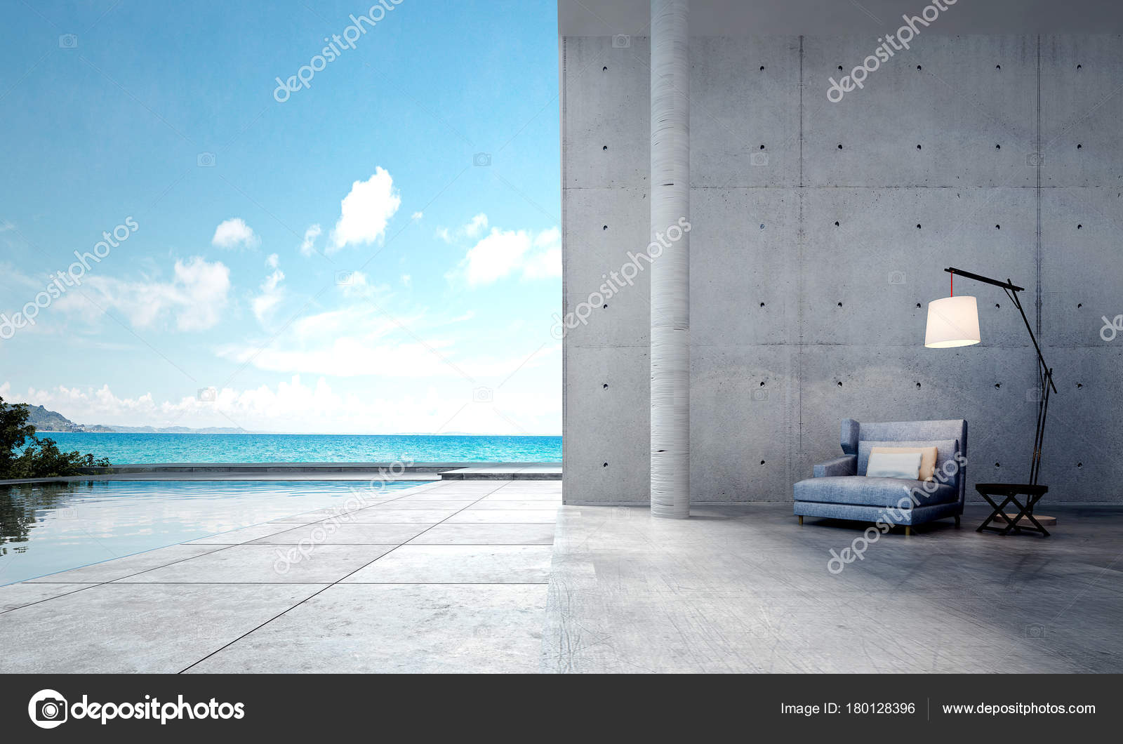 Das Interieur Design Idee Konzept Der Modernen Minimal Wohnzimmer Und U2014  Stockfoto