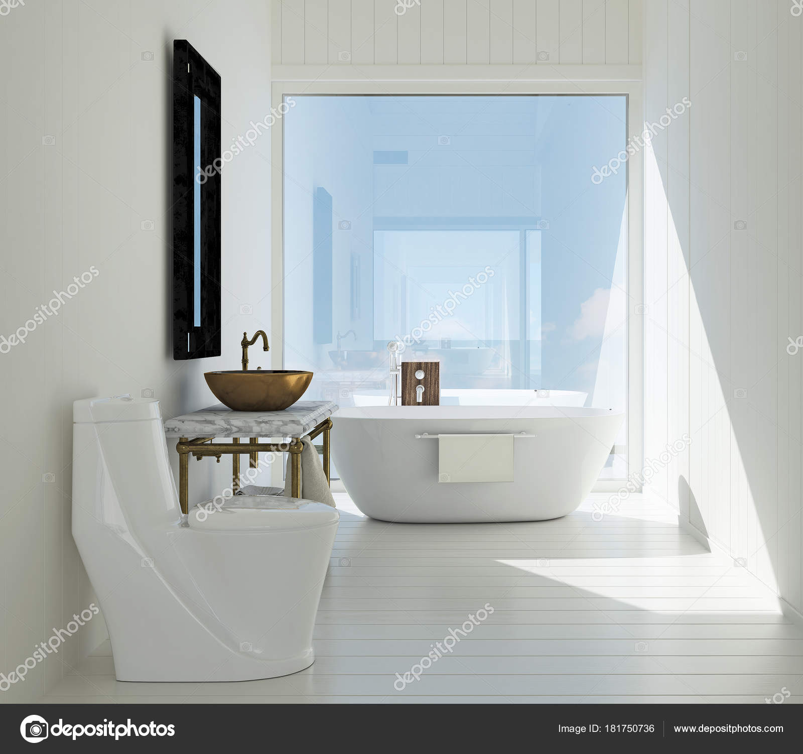 Luxury Bathroom Jacuzzi Interiors Design Idea Concept Concrete Texture Wall  U2014 Stock Photo
