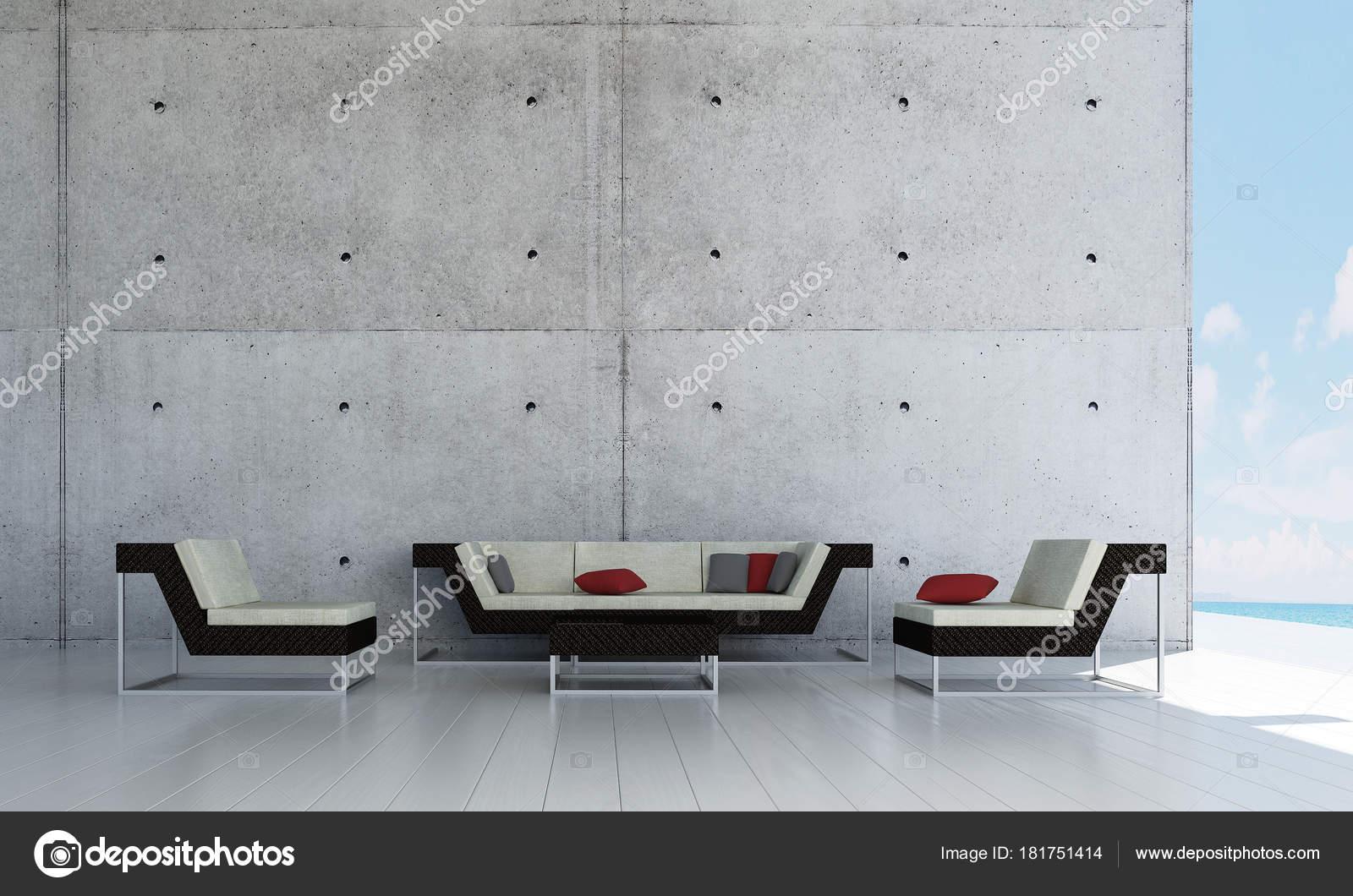 Die Moderne Lounge Und Wohnzimmer Und Beton Wand Textur Hintergrund ...