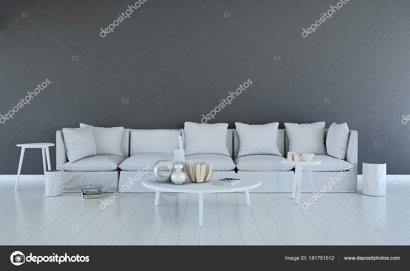 Das Interior Design Der Lounge Beach Und Tagesbett Lebenden Bereich ...