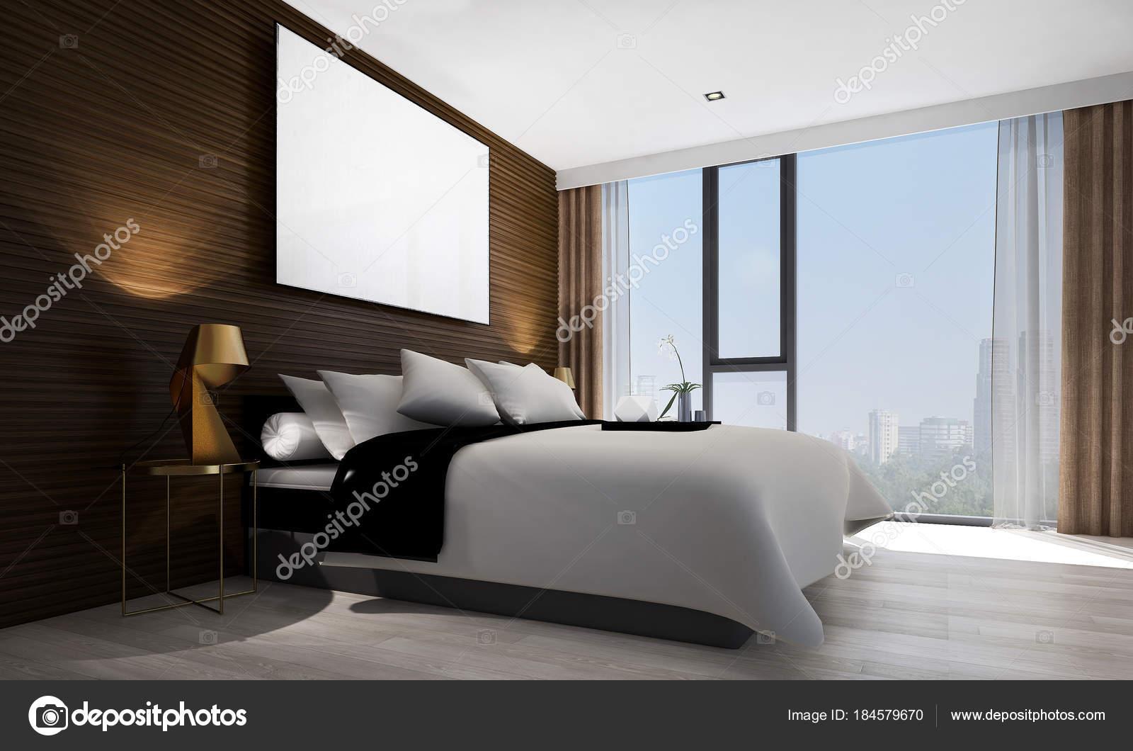 Fond Chambre Coucher Moderne Design Intérieur Texture Mur Paysage ...