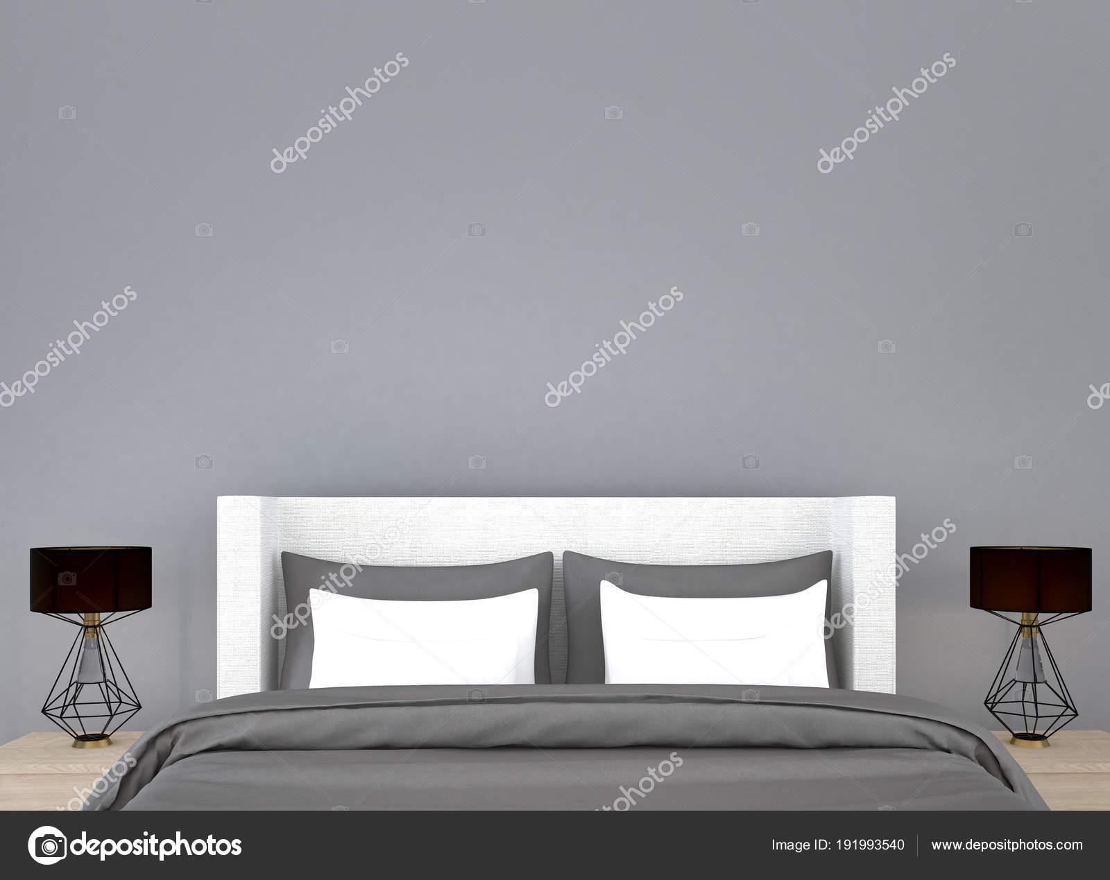 Slaapkamer Interieur Grijs : Slaapkamer interieur ontwerp idee grijs muur textuur achtergrond