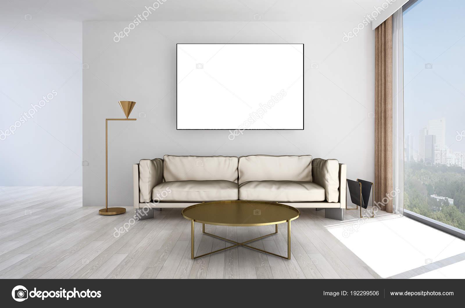 Wohnzimmer Interior Design Und Weiße Textur Hintergrund Und Bild ...