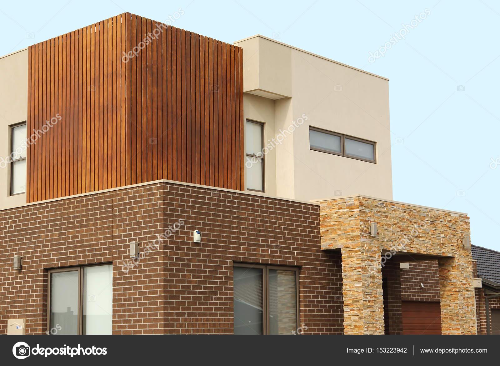 Moderne Architektur äußere Details Doppel-Geschichte Häuser ...