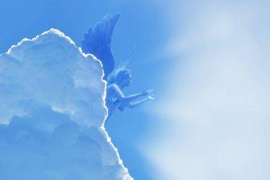 Angel flying in sky