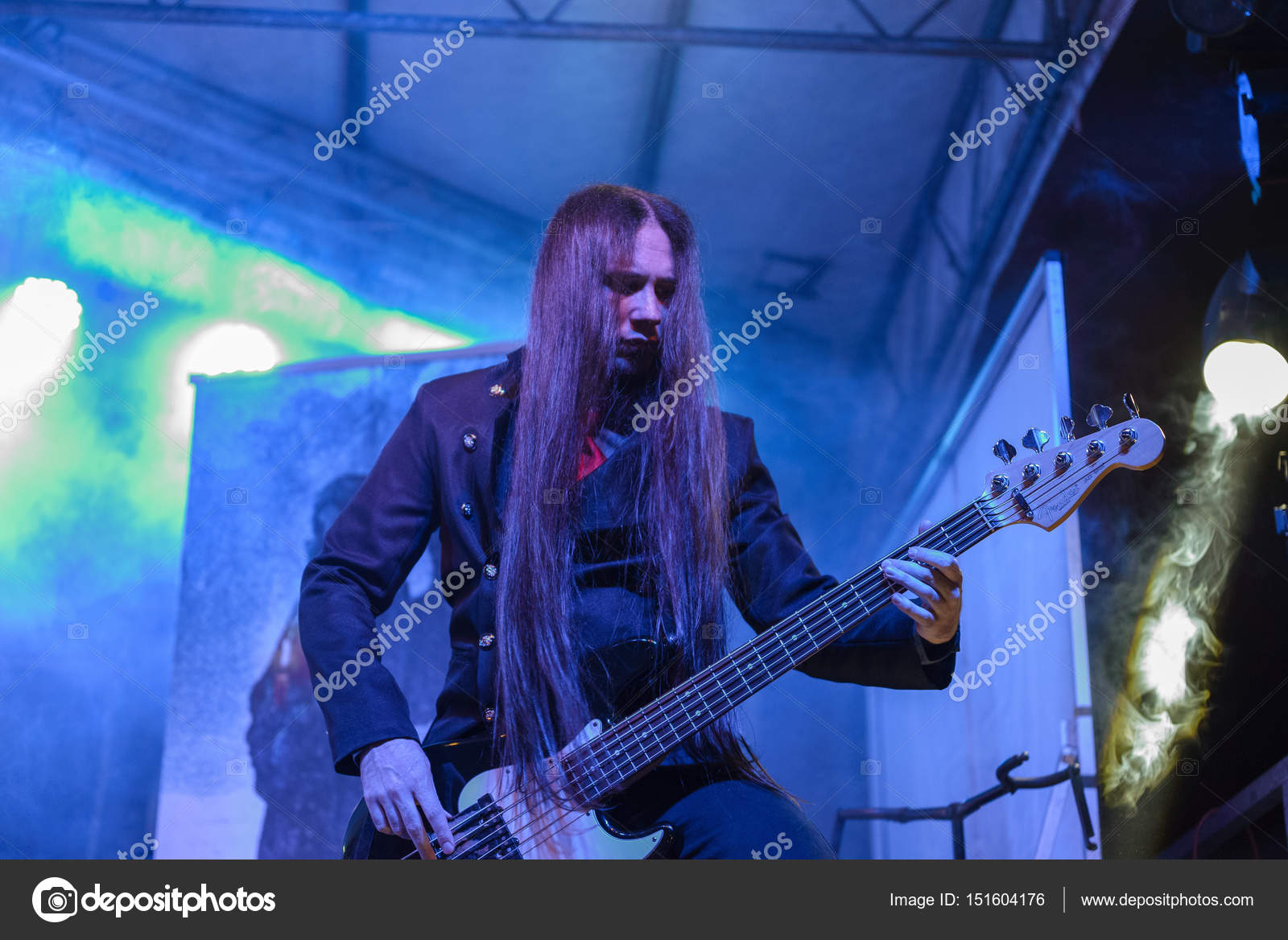 Dark Lunacy live at Insubria Festival 2017 (MI) – Stock Editorial