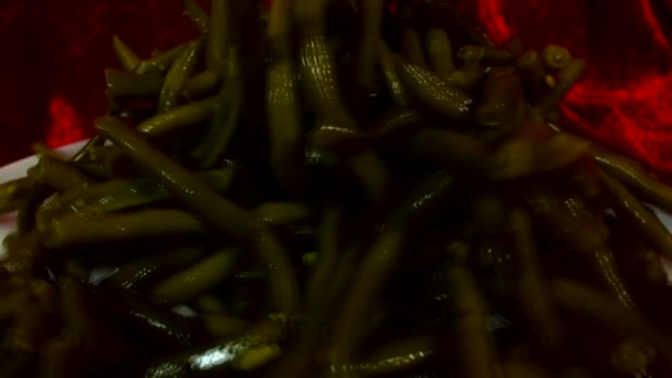 Viele grüne Vicia Faba oder Saubohnen