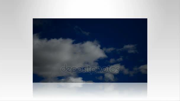 Cumulonimbus in blue sky with wind Time-Lapse
