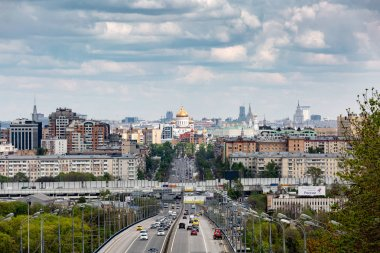 Russia, Moscow - May 19.2017: overlooking the centre of Moscow,