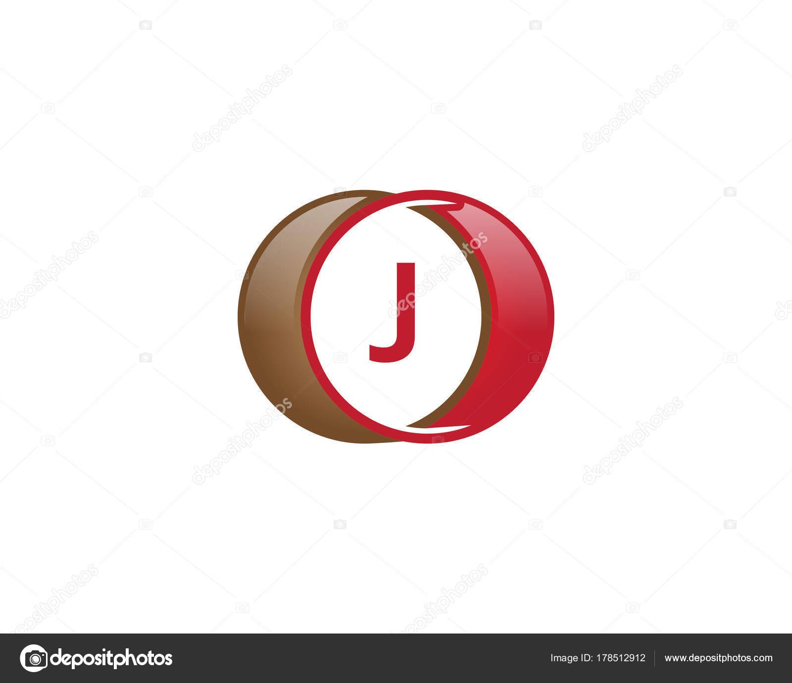 45935a833 logotipo de círculo de letra j — Vetores de Stock © meisuseno gmail ...
