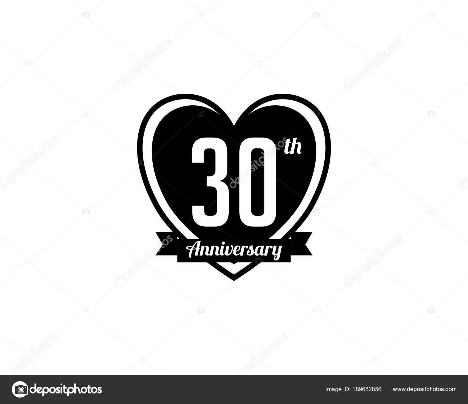 Thirty Year Anniversary Badge Stock Vector Meisusenogmail