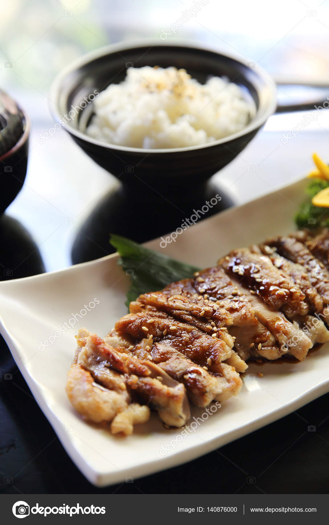 Chicken teriyaki set with rice and soup japanese food stock photo chicken teriyaki set with rice and soup japanese food photo by piyato forumfinder Images