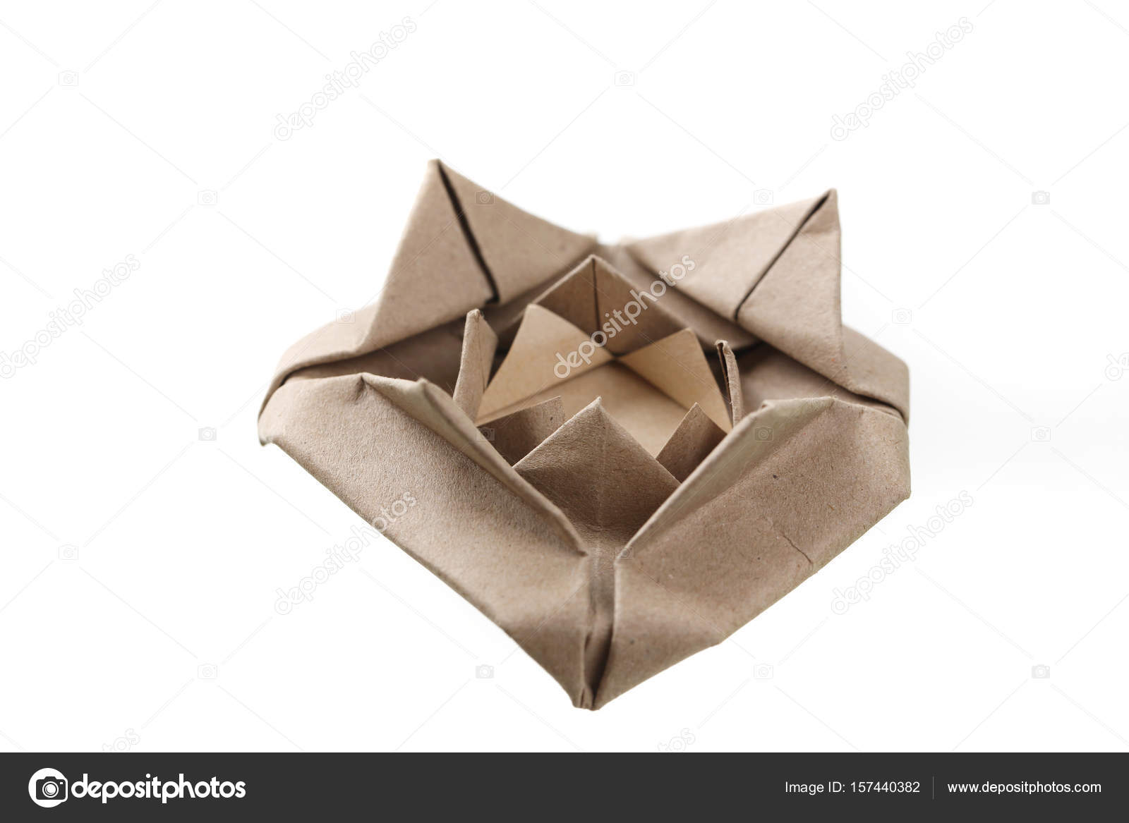 Origami rose flower papercraft by recycle paper isolated in whit origami rose flower papercraft by recycle paper isolated in whit stock photo mightylinksfo