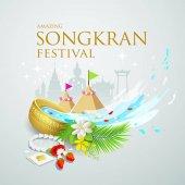 Songkran festival water splash of Thailand