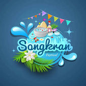 Photo Songkran festival of Thailand logo design