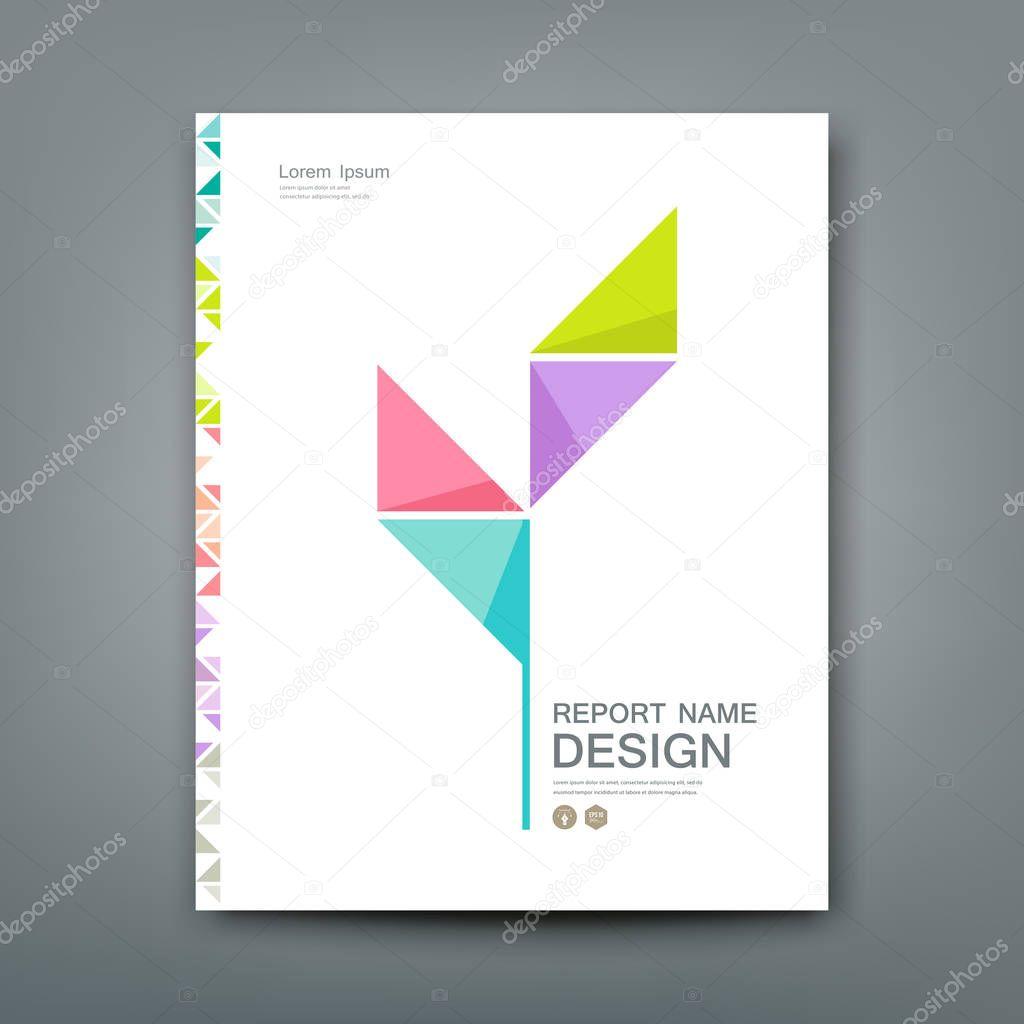Cover Annual report colorful tree origami paper design