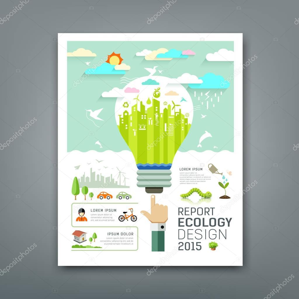 Annual Report light bulb environment creative design