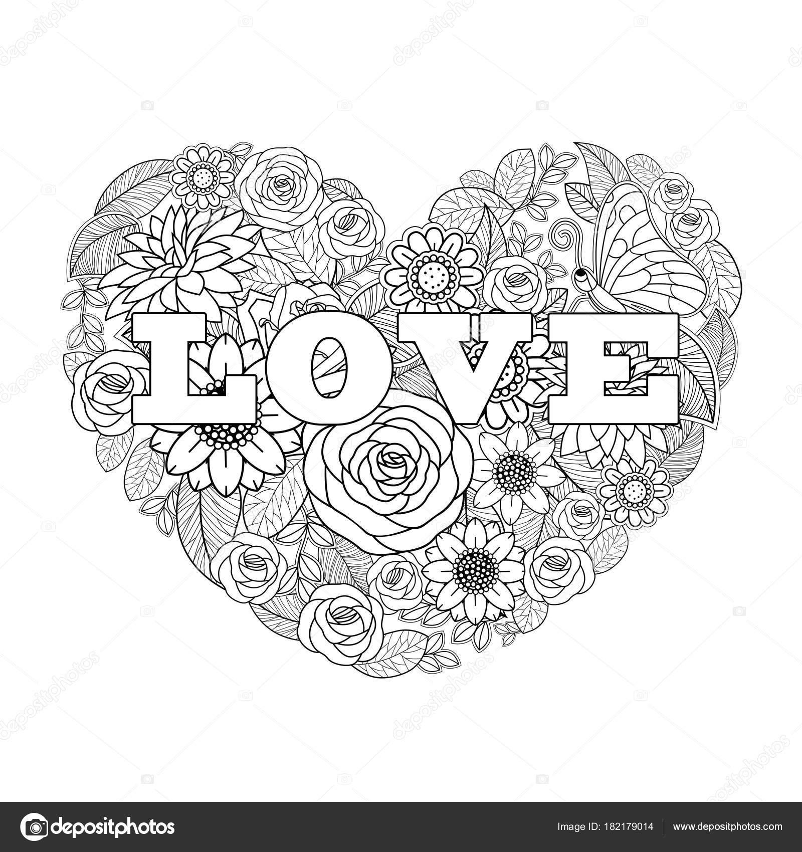 Dia Dos Namorados Flor Desenho Fundo Coração Forma Desenho