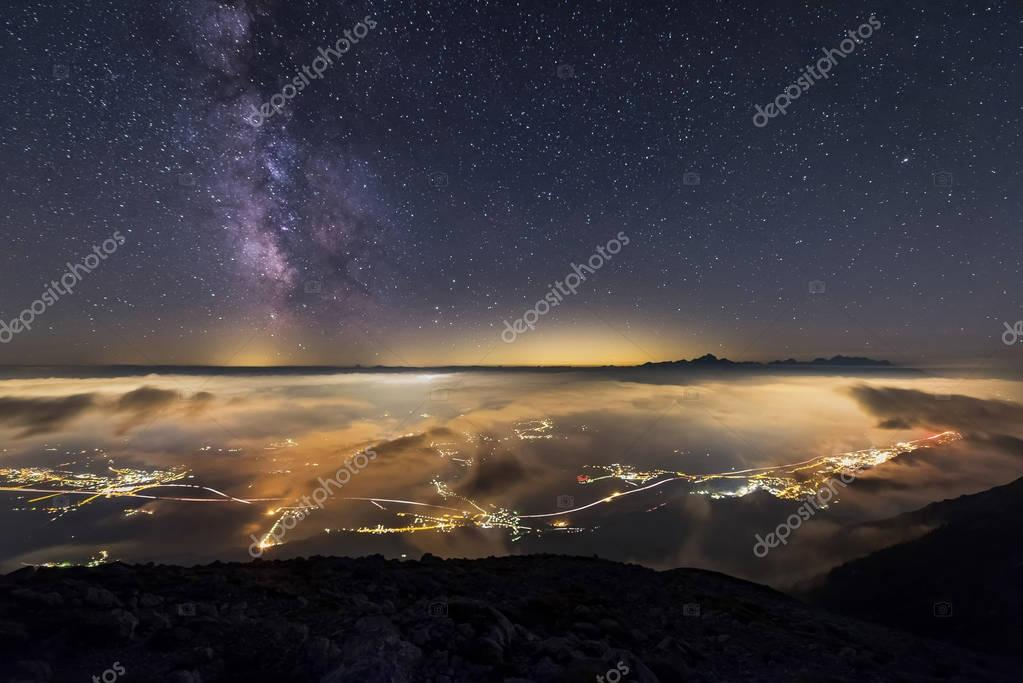 Milky way over Triglav