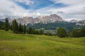 Fotografie pohledy v pohoří Dolomity
