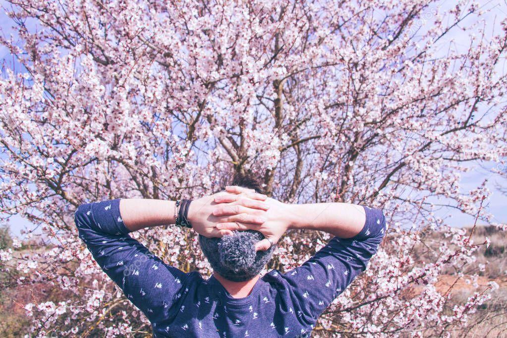 young man near tree