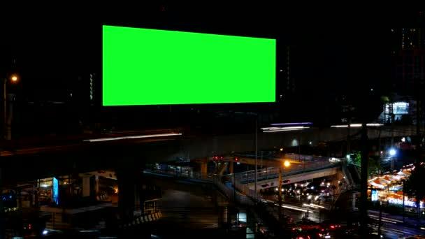 Reklamní Billboard s zelenou obrazovkou, časová prodleva